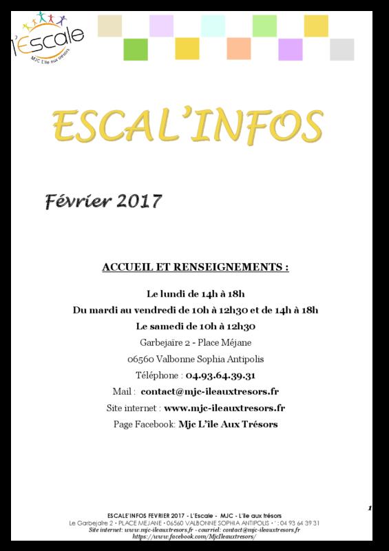 Escal'infos Février 2017