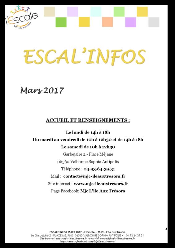 Escal'infos Mars 2017