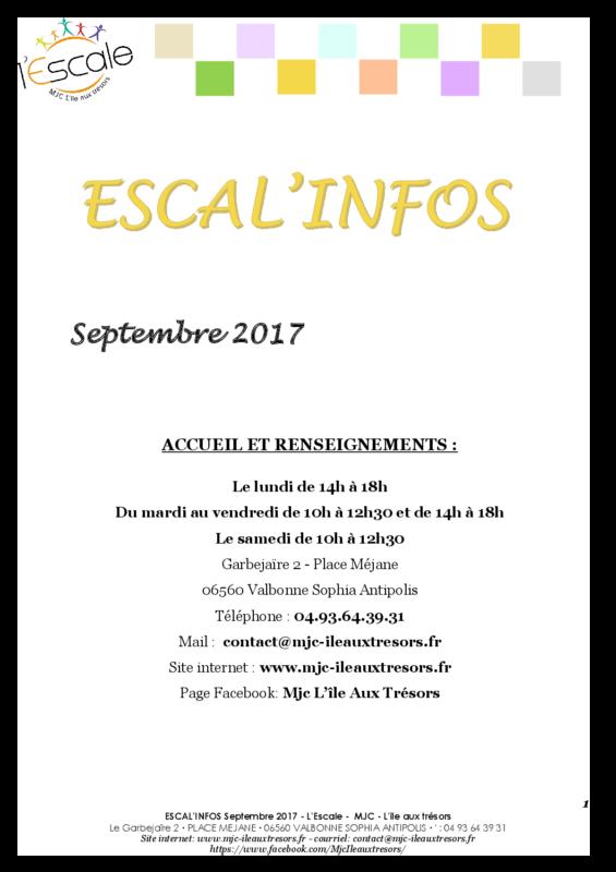 Escal'infos Septembre 2017