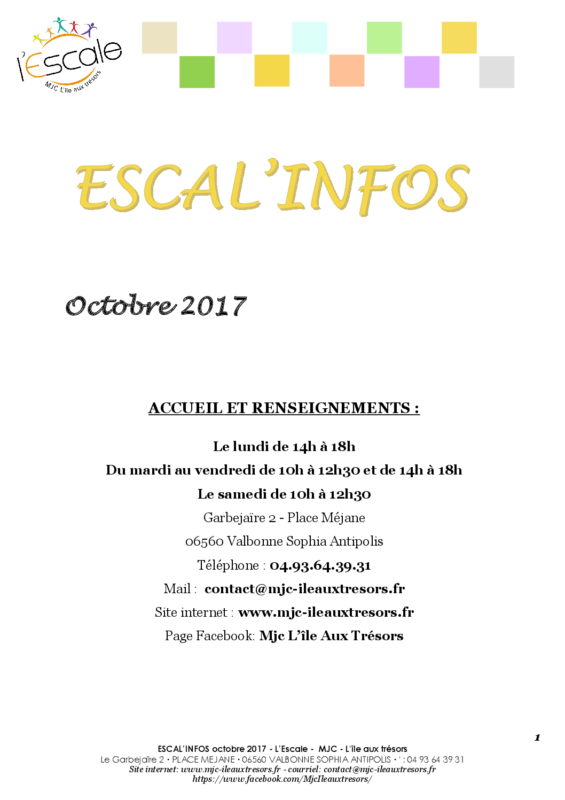 Escal'infos Octobre 2017