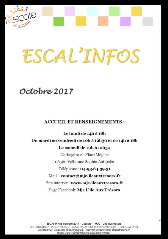 Escal'infos Octobre 2017