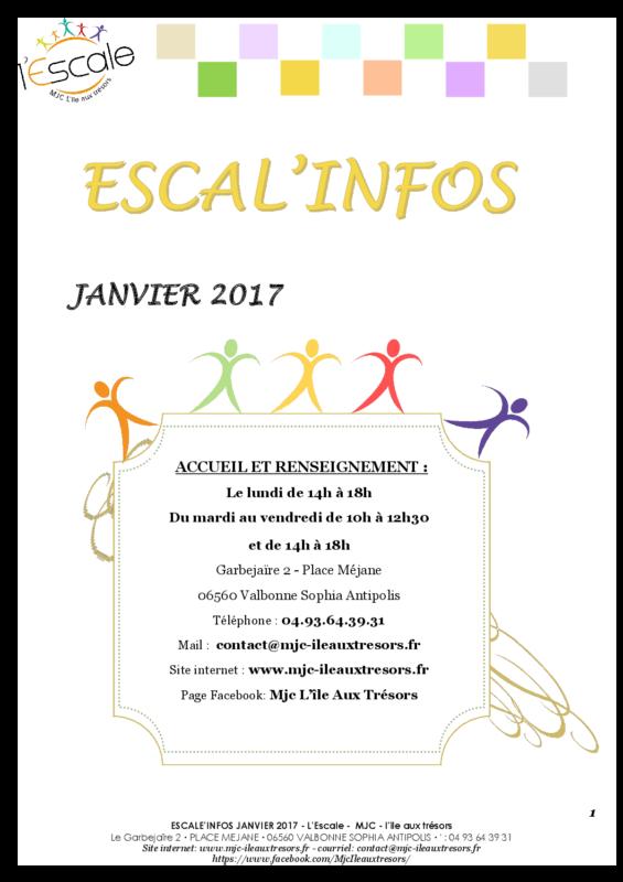 Escal'infos Janvier 2017