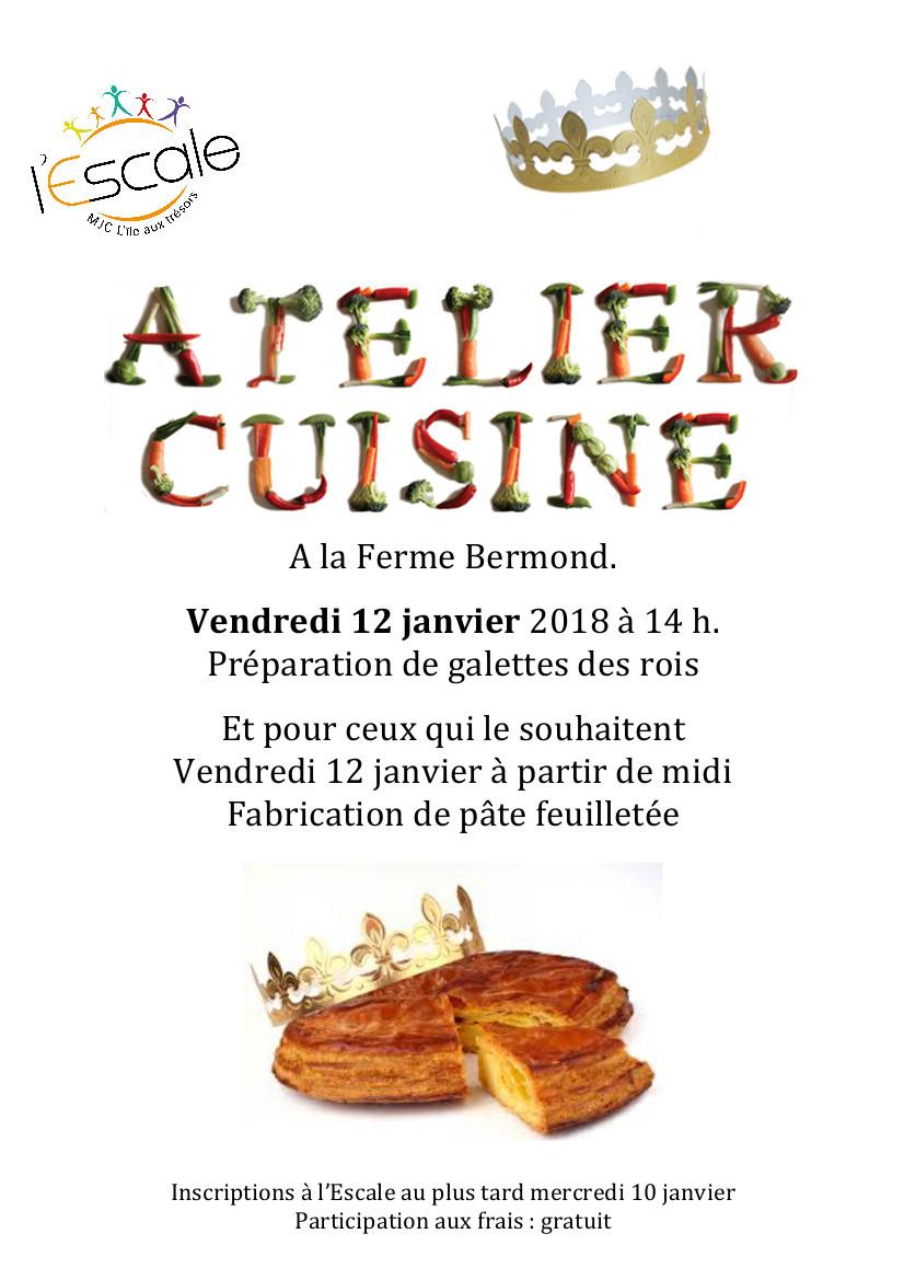 Atelier cuisine vendredi 12 janvier mjc l 39 le aux tr sors for Ateliers cuisine