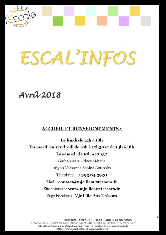 Escal'infos Avril 2018