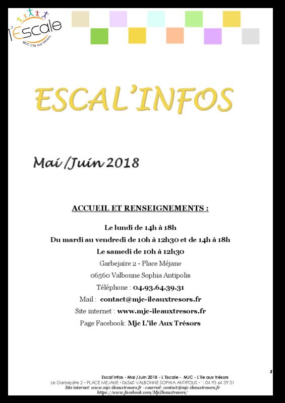 Escal'infos Mai/Juin 2018