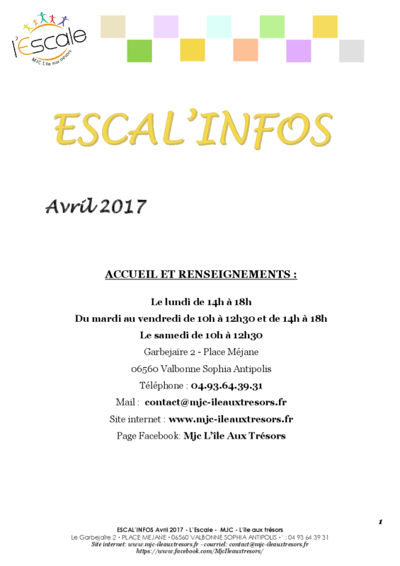 Escal'infos Avril 2017