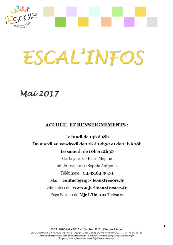 Escal'infos Mai 2017