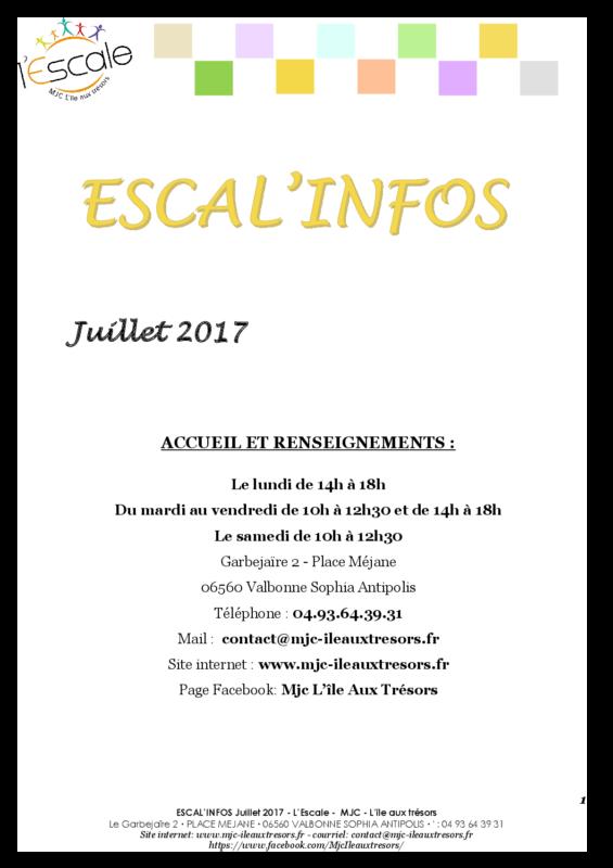 Escal'infos Juillet 2017