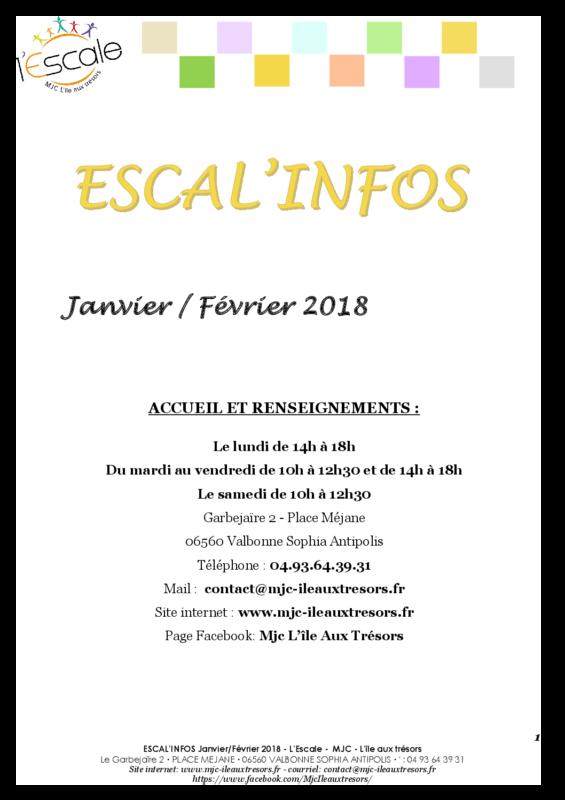 Escal'infos Janvier/Février 2018