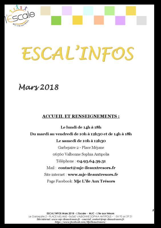 Escal'infos Mars 2018